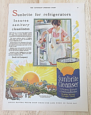 1928 Sunbrite Cleanser With Woman Cleaning