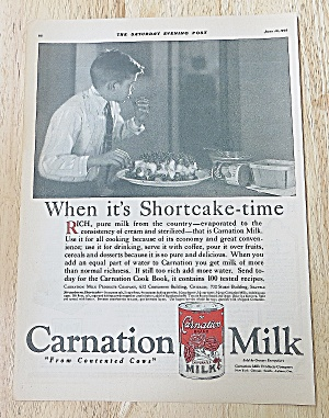 1922 Carnation Milk With Boy Eating