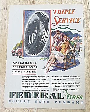 1929 Federal Tires With Woman In Chair