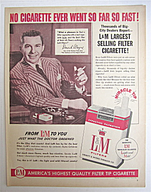 1954 L & M Cigarettes With David Wayne