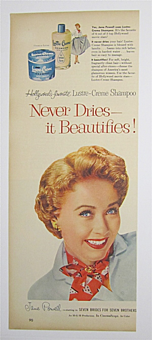 1954 Lustre Creme Shampoo With Jane Powell