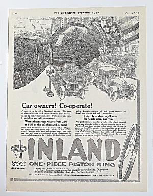1919 Inland Piston Rings With Hands Shaking