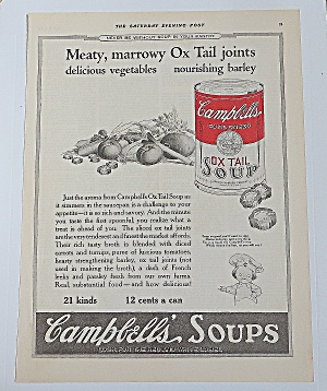 1922 Campbell Soup With Oxtail Soup