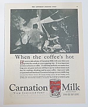 1922 Carnation Milk With Men Camping