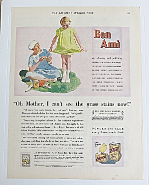 1930 Bon Ami With Mom & Girl Looking At Her Dress