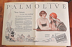 1924 Palmolive With Gypsy Telling Woman Her Fortune