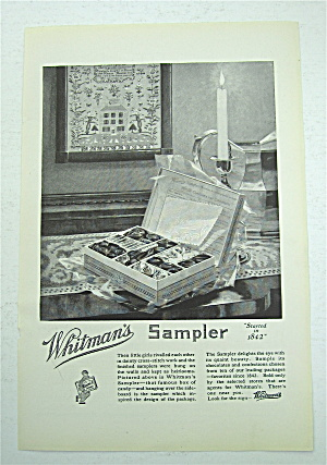 1922 Whitman's Sampler With Box Of Candy