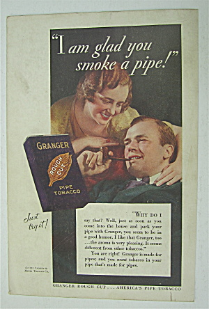 1932 Granger Tobacco With Man Smoking Pipe
