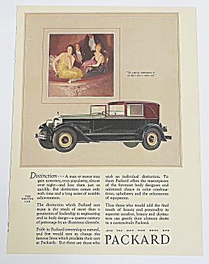 1926 Packard Automobile With The Restful Car