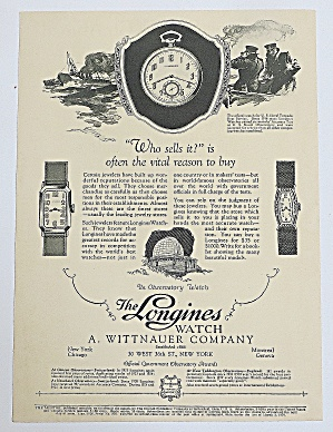 1926 Longines Watch With Watches