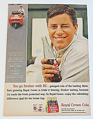 1963 Royal Crown Cola With Jerry Lewis
