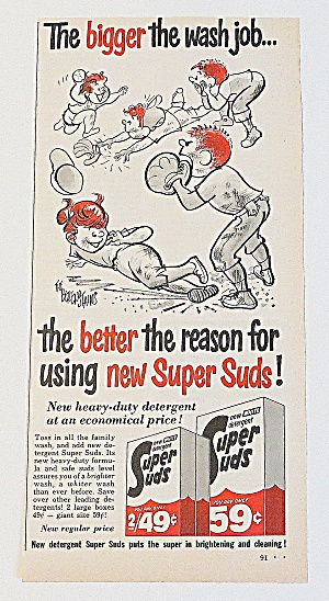 1963 Super Suds With Children Playing Baseball