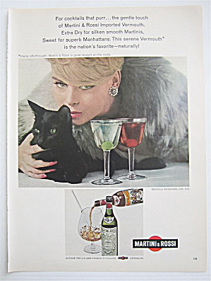 1967 Martini & Rossi With Woman & Her Black Cat
