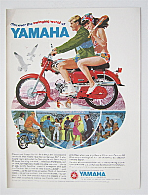 1966 Yamaha With Man & Woman On A Campus 60