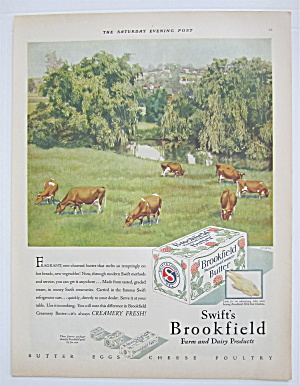 1929 Swift's Brookfield Butter With Cows