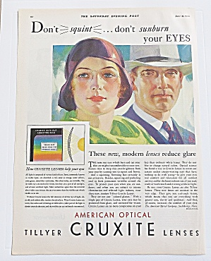 1930 Cruxite With Woman Wearing Glasses