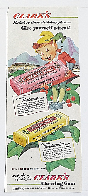 1943 Clark's Chewing Gum With Elf