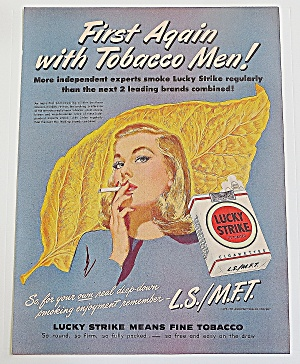 1948 Lucky Strike With Woman Smoking