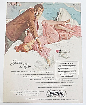 1948 Pacific Sheets With Man And Woman
