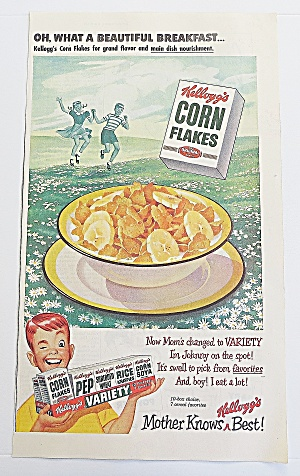 1950 Corn Flakes With Boy Winking