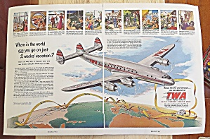 1950 Twa Trans World Airline With Airplane