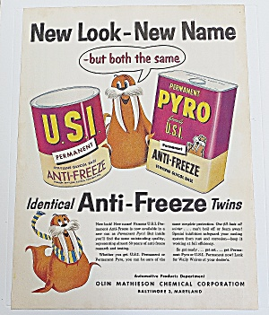 1955 Usi/pyro Anti Freeze With Seal