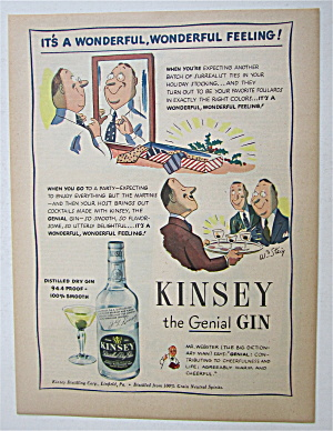 1945 Kinsey Genial Gin With Men Looking At Drinks