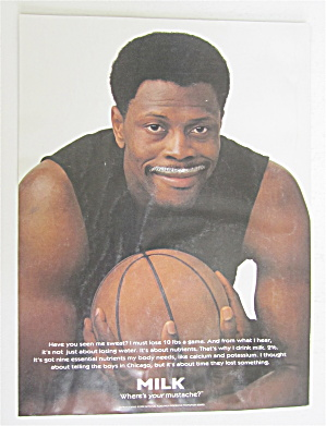 1998 Milk With Basketball's Patrick Ewing
