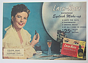 1950 Lash Kote Eyelash Make Up W/ Coleen Gray