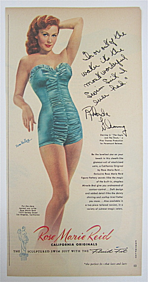 1950 Rose Marie Reid Swim Suit With Rhonda Fleming