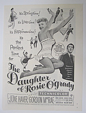 1950 The Daughter Of Rosie O' Grady W/june Haver