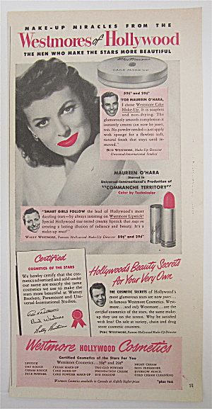 1950 Westmore Cosmetics With Maureen O' Hara