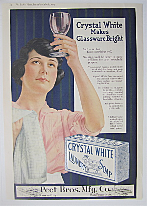1917 Crystal White Laundry Soap W/woman Doing Dishes