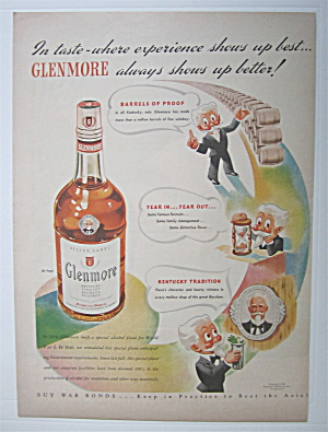 1943 Glenmore Whiskey W/ White Haired Man