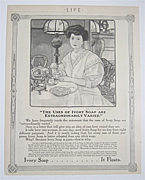 1909 Ivory Soap With Woman Sitting At A Table