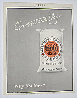 1909 Gold Medal Flour With Bag Of Flour