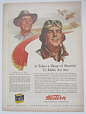 1944 Western Ammunition With Two Men