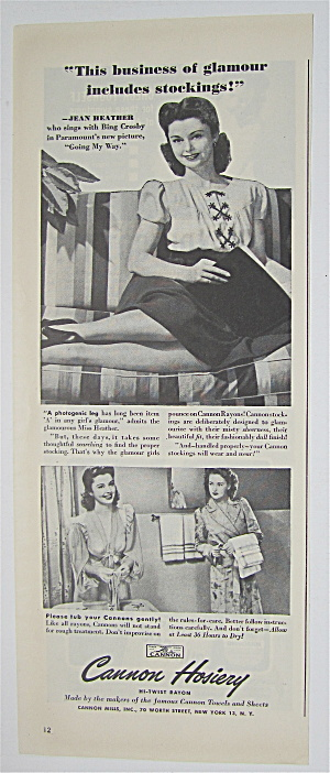1944 Cannon Hosiery With Jean Heather