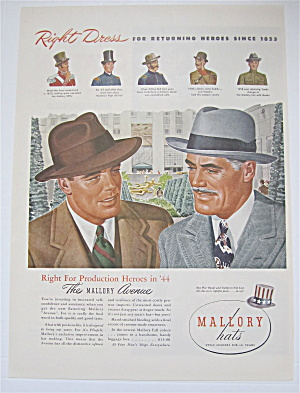 1944 Mallory Hats With Two Men Talking