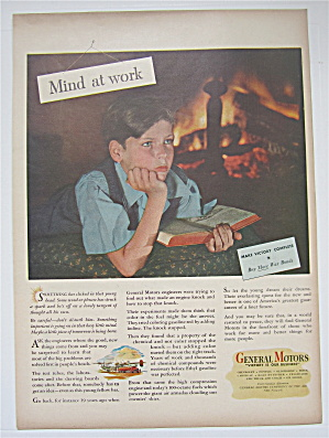 1945 General Motors With A Boy's Mind At Work