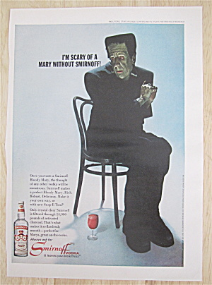 1967 Smirnoff Vodka With Paul Ford As Friendly Monster