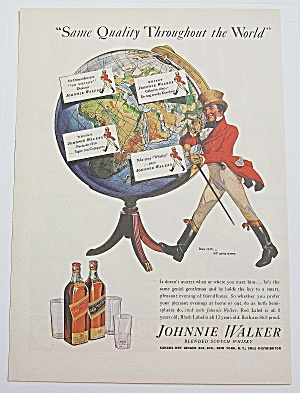 1937 Johnnie Walker W/ Johnnie Walker & Globe Of World