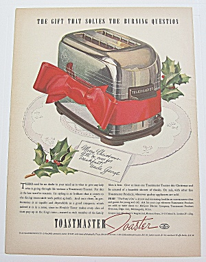 1937 Toastmaster Toaster With Christmas Card
