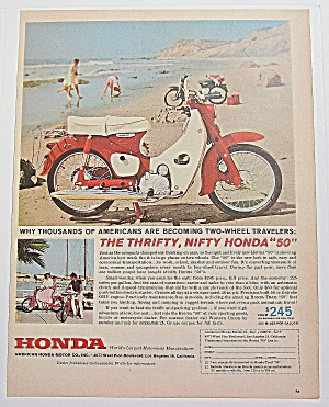 1962 Honda Motorcycle With The Thrifty Nifty Honda 50