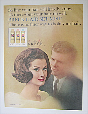 1964 Breck Shampoo With Lovely Woman & Man