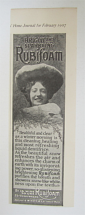 1907 Rubifoam With Woman Smiling