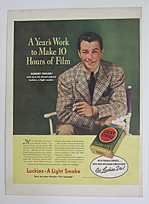 1937 Lucky Strike Cigarettes With Robert Taylor