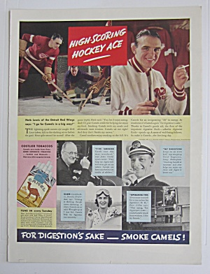 1937 Camel Cigarettes With Hockey Ace Herb Lewis