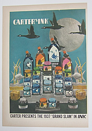 1937 Carter's Ink With Variety Of Carter's Ink