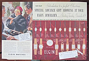1937 Elgin Watches With Man & Woman Buying Watch